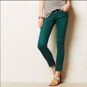 AG Stevie Ankle Slim Straight Ankle Green Jeans 31